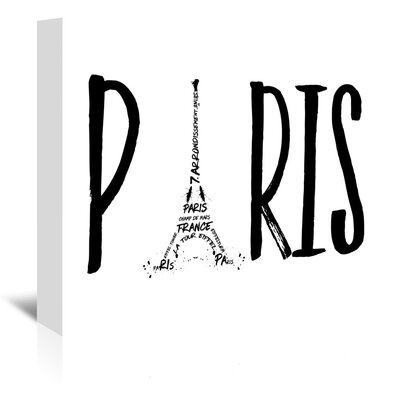Americanflat 'Paris' by Melanie Viola Typography Wrapped on Canvas