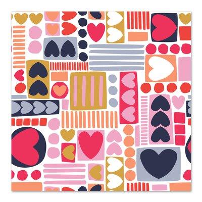 Americanflat 'Mod Hearts 1' by Jocelyn Proust Graphic Art