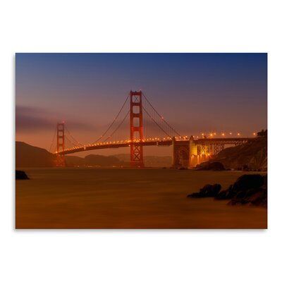 Americanflat 'Golden Gate Bridge at Sunset' by Melanie Viola Photographic Print
