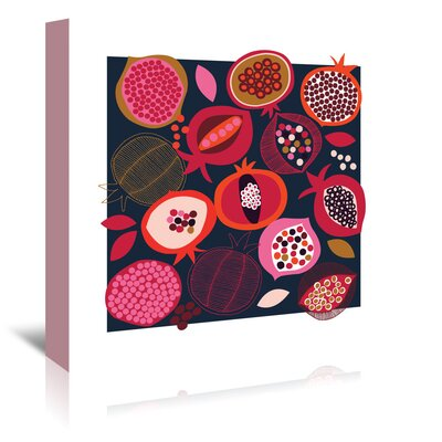 Americanflat 'Pomegranates' by Jocelyn Proust Graphic Art Wrapped on Canvas