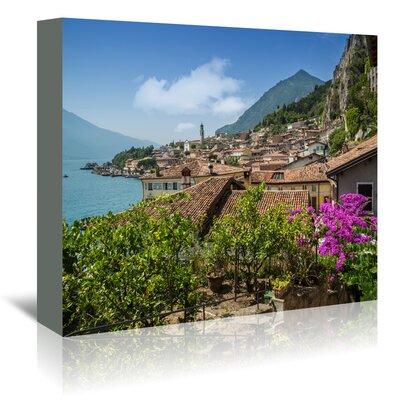 Americanflat 'Lake Garda Limone Sul Garda' by Melanie Viola Photographic Print Wrapped on Canvas