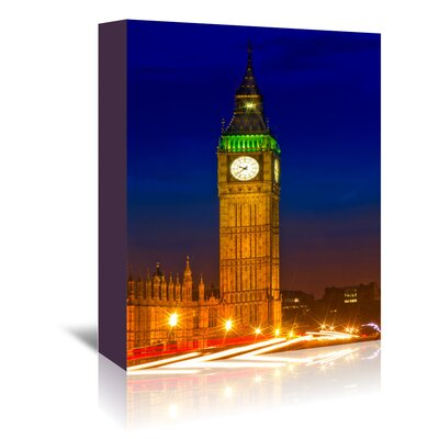 Americanflat 'London Evening Cityscape' by Melanie Viola Photographic Print Wrapped on Canvas
