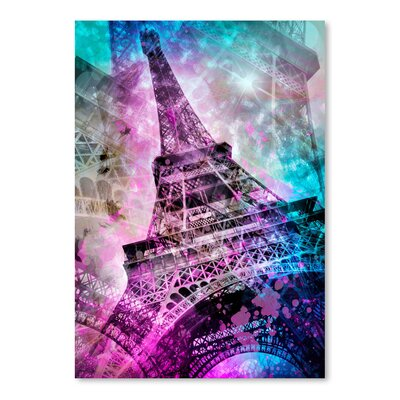 Americanflat 'Pop Paris Eiffel Tower' by Melanie Viola Graphic Art