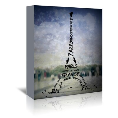 Americanflat 'Paris Eiffel Tower No.1' by Melanie Viola Graphic Art Wrapped on Canvas