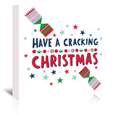 Americanflat 'Cracking Christmas' by Emma McGowan Typography Wrapped on Canvas