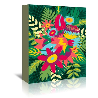 Americanflat 'Tropical Bouquet' by Kevin Brackley Graphic Art Wrapped on Canvas