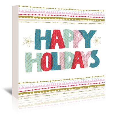 Americanflat 'Happy Holidays 2' by Emma McGowan Typography Wrapped on Canvas