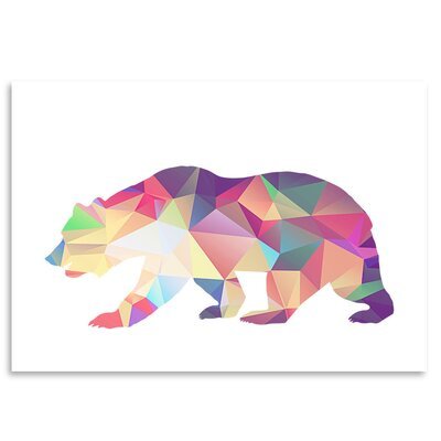Americanflat 'Bear Poly' by Ikonolexi Graphic Art