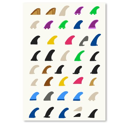 Americanflat 'Fins' by Jorey Hurley Graphic Art