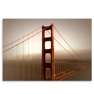 Americanflat 'Vintage Style Golden Gate Bridge and Fog' by Melanie Viola Photographic Print