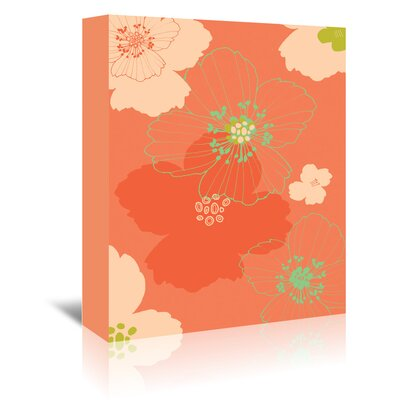 Americanflat 'Big Poppy Blush' by Emma McGowan Graphic Art Wrapped on Canvas