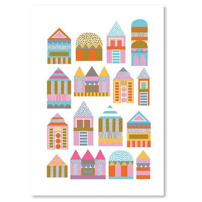 Americanflat 'Little Houses' by Jocelyn Proust Graphic Art