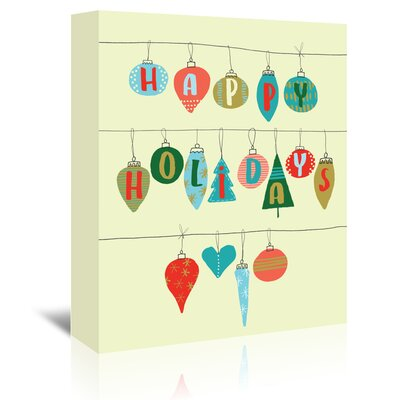 Americanflat 'Happy Holidays' by Emma McGowan Graphic Art Wrapped on Canvas