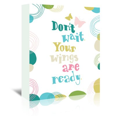 Americanflat 'Don't Wait' by Emma McGowan Typography Wrapped on Canvas in White