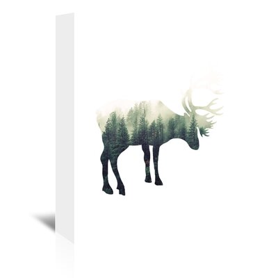 Americanflat 'Deer' by Ikonolexi Graphic Art Wrapped on Canvas