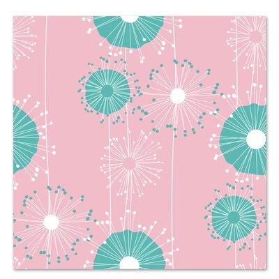 Americanflat 'Pastel Pink Dandelions' by Kevin Brackley Graphic Art