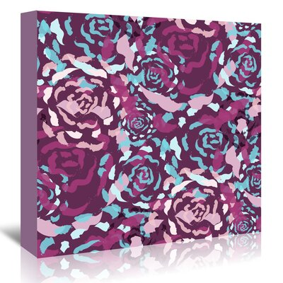 Americanflat 'Plum Rose Bouquet' by Kevin Brackley Graphic Art Wrapped on Canvas