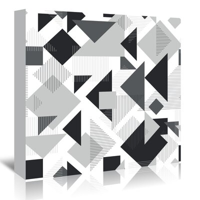 Americanflat 'Scattered Angles' by Kevin Brackley Graphic Art Wrapped on Canvas