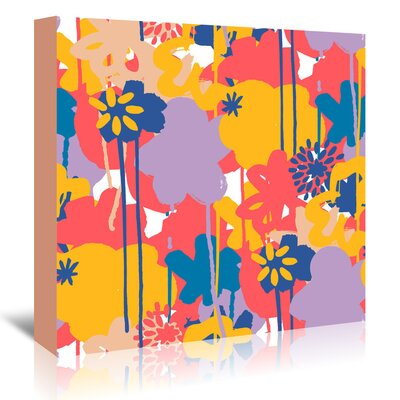 Americanflat 'Brushed Bouquet' by Kevin Brackley Art Print Wrapped on Canvas