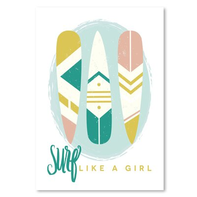 Americanflat 'Like A Girl 1' by Beth Schneider Graphic Art