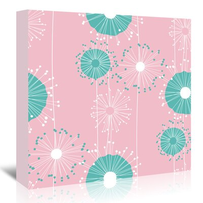Americanflat 'Pastel Pink Dandelions' by Kevin Brackley Graphic Art Wrapped on Canvas