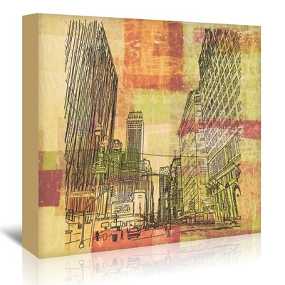 Americanflat '16B13 Nyc Blend' by Marian Nixon Graphic Art Wrapped on Canvas