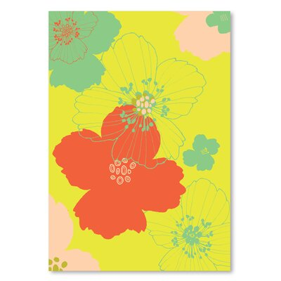 Americanflat 'Big Poppy Yellow' by Emma McGowan Graphic Art