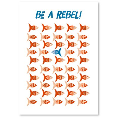 Americanflat 'Rebel Fish Placem' by Kevin Brackley Graphic Art