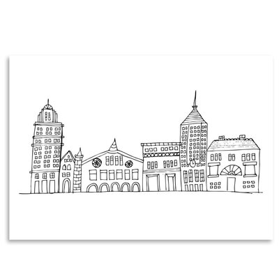 Americanflat 'In the City 1' by Beth Schneider Graphic Art