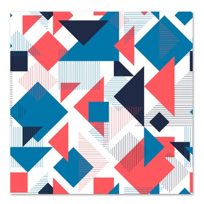 Americanflat 'Scattered Angles' by Kevin Brackley Graphic Art