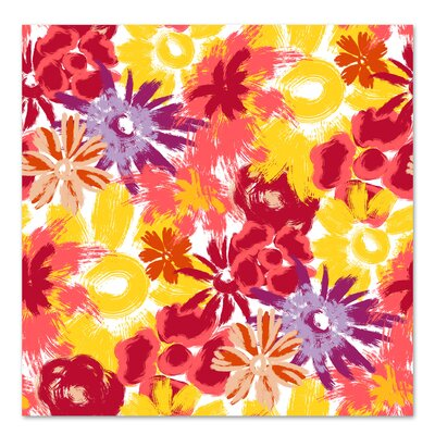 Americanflat 'Floral Frenzy' by Kevin Brackley Art Print