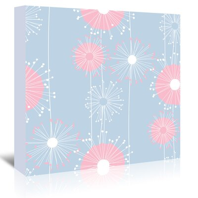 Americanflat 'Pastel Blue Dandelions' by Kevin Brackley Graphic Art Wrapped on Canvas