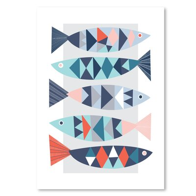 Americanflat 'Geo Fish' by Jocelyn Proust Graphic Art