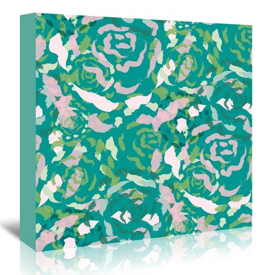 Americanflat 'Teal Rose Bouquet' by Kevin Brackley Graphic Art Wrapped on Canvas