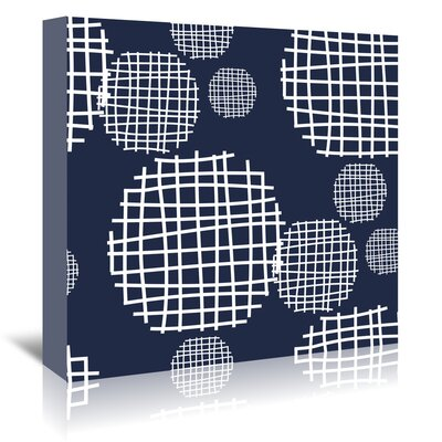 Americanflat 'Circle Grids' by Kevin Brackley Graphic Art Wrapped on Canvas