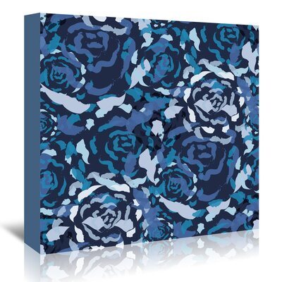 Americanflat 'Blue Rose Bouquet' by Kevin Brackley Graphic Art Wrapped on Canvas