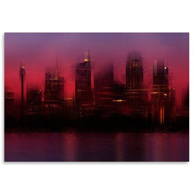 Americanflat 'City Sydney Skyline at Sunset' by Melanie Viola Graphic Art