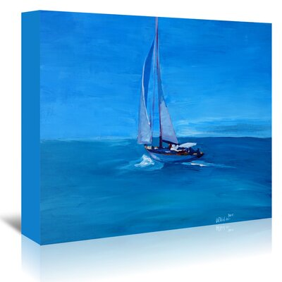 Americanflat 'Sailing Into the Blue' by Markus Bleichner Art Print Wrapped on Canvas