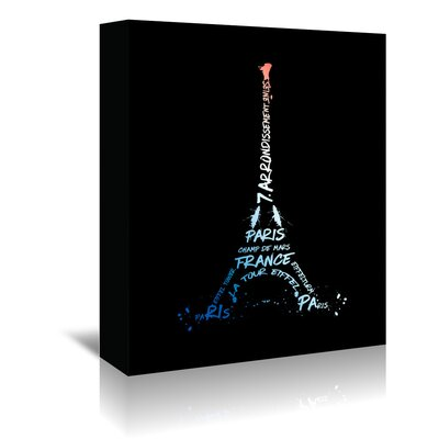 Americanflat 'Eiffel Tower National Colours' by Melanie Viola Graphic Art Wrapped on Canvas