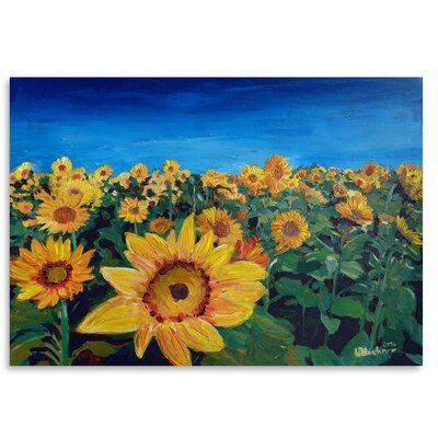 Americanflat 'Beautiful Morning at Sunflower Fields' by Markus Bleichner Art Print