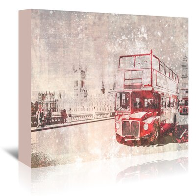 Americanflat 'City London Buses II' by Melanie Viola Graphic Art Wrapped on Canvas