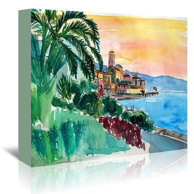 Americanflat 'Wonderful Lago Maggiore Italy 2' by Markus Bleichner Art Print Wrapped on Canvas