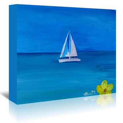 Americanflat 'Set Sail on a Boat in the Caribbean I' by Markus Bleichner Art Print Wrapped on Canvas