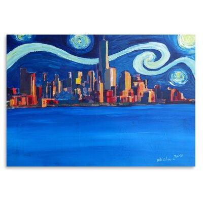 Americanflat 'Starry Night in New York City - Freedom Tower Manhattan Van Gogh Inspirations 2' by Markus Bleichner Art Print
