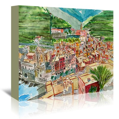 Americanflat 'Vernazza a Dream of Romantic Italy' by Markus Bleichner Art Print Wrapped on Canvas