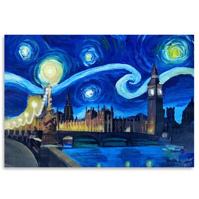 Americanflat 'Starry Night London Parliament Van Gogh Inspirations in England' by Markus Bleichner Art Print