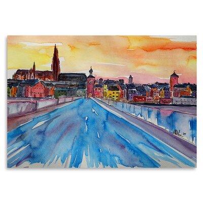 Americanflat 'Regensburg Pearl on Danube from Stone Bridge 2' by Markus Bleichner Art Print