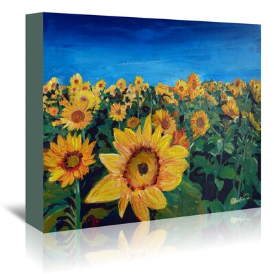 Americanflat 'Beautiful Morning at Sunflower Fields' by Markus Bleichner Art Print Wrapped on Canvas