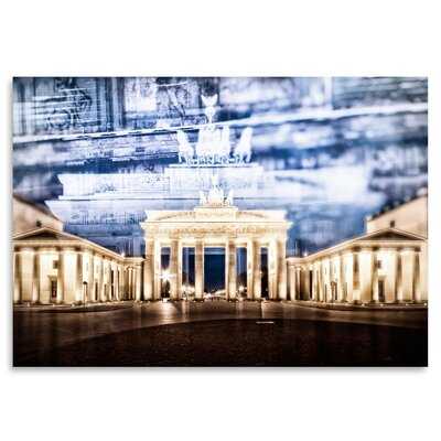 Americanflat 'Berlin Brandenburg Gate in Detail' by Melanie Viola Graphic Art