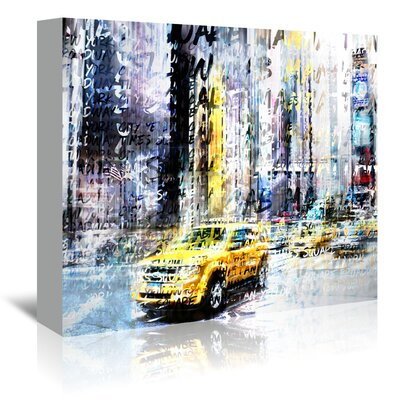 Americanflat 'City Nyc Collage' by Melanie Viola Graphic Art Wrapped on Canvas